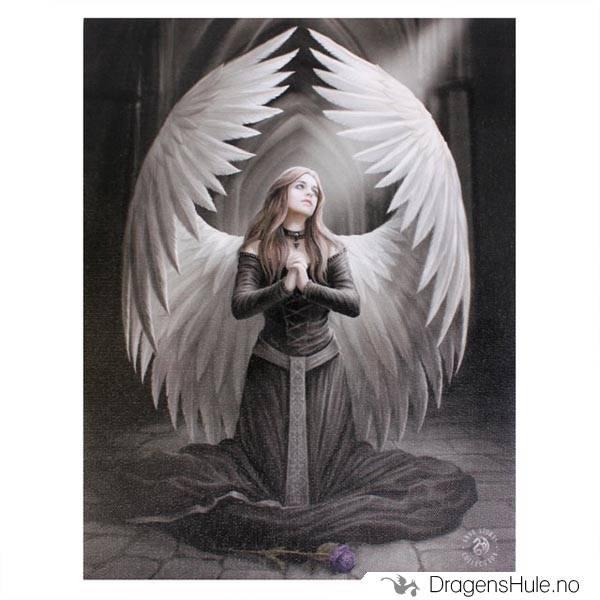 Lerretstrykk: Anne Stokes: Prayer for the Fallen 19x25cm