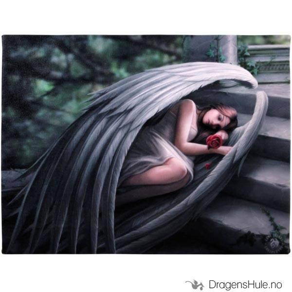 Lerretstrykk: Anne Stokes: Sweet Sorrow 19x25cm